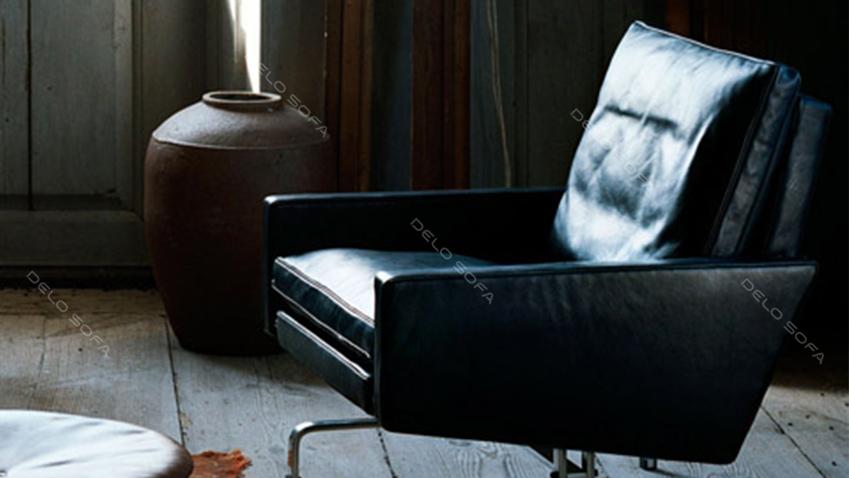 米罗 三人位客厅真皮沙发(Miro Sofa)