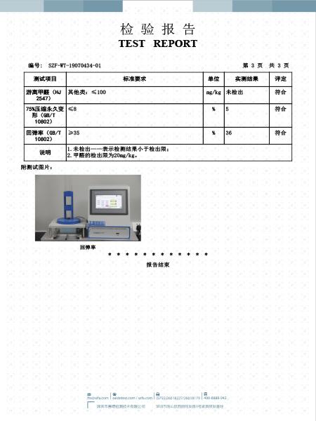 深圳家协P23A海绵检测报告